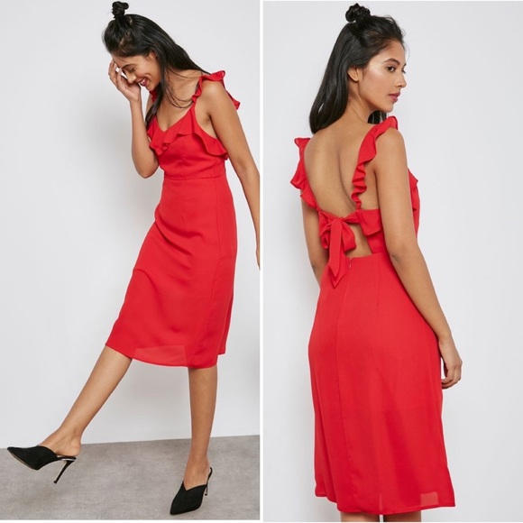 Forever 21 Red Ruffle Dress, sz S